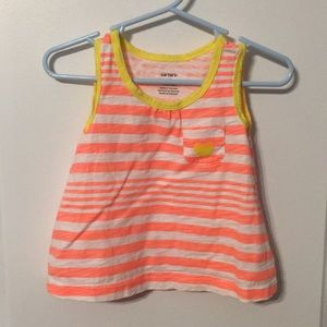 Carters 18 months orange and yellow tank top